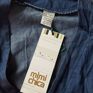 212008f5f1be Mimi Chica Pants - Mimi chica chambray denim jumpsuit size small
